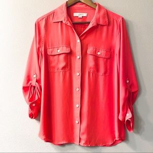 LOFT long sleeve loose fit button up